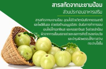 สารสกัดจากมะขามป้อม-ส่วนประกอบอาหารเสริม