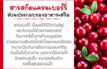 สารสกัดแครนเบอร์รี่-ส่วนประกอบของอาหารเสริม
