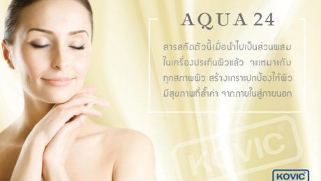 สารเพิ่มความชุ่มชื้นแก่ผิว (Aqua 24) ส่วนประกอบการผลิตเครื่องสำอาง