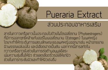 Pueraria Extract ส่วนประกอบของอาหารเสริม